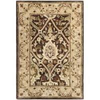 Safavieh Handmade Persian Legend Brown/ Beige Wool Rug (2' x 3') - 2' x 3'