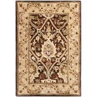 Safavieh Handmade Persian Legend Brown/ Beige Wool Rug - 2' X 3'