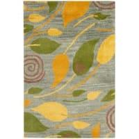 Safavieh Handmade Foliage Grey New Zealand Wool Rug (2' x 3')