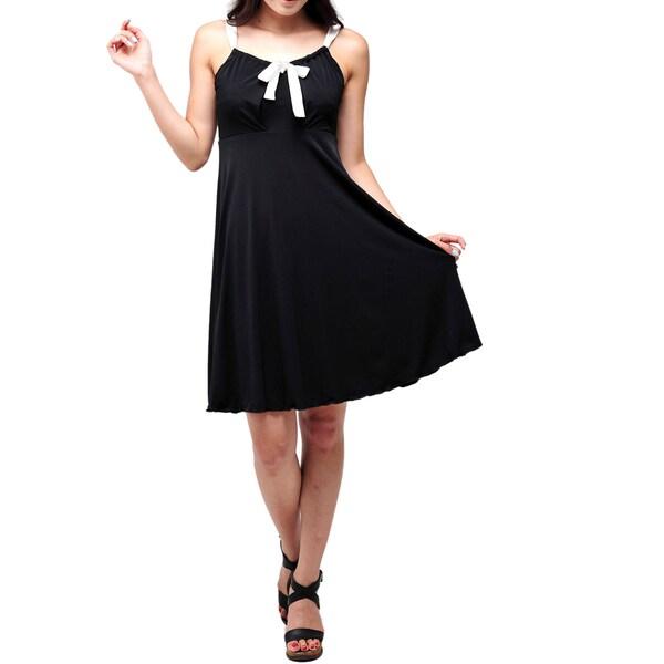 Evanese Women's Cute Ribbon Mini Dress