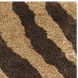 Safavieh Handmade Tiger Beige/ Brown New Zealand Wool Rug (2' x 3') - Thumbnail 1