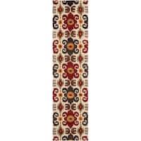 "Safavieh Handmade Festive Ivory New Zealand Wool Rug - 2'6"" x 10'"