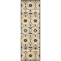 "Safavieh Handmade Gramercy Ivory New Zealand Wool Rug - 2'6"" x 8'"