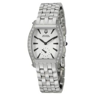 Bulova Accutron Women's 'Saleya' Stainless Steel Swiss Quartz Watch|https://ak1.ostkcdn.com/images/products/6911242/6911242/Bulova-Accutron-Womens-Saleya-Stainless-Steel-Swiss-Quartz-Watch-P14430847.jpeg?_ostk_perf_=percv&impolicy=medium