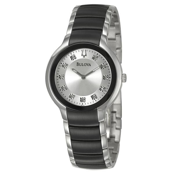 Bulova Men's 98D118 'Diamonds' Stainless Steel Quartz Watch