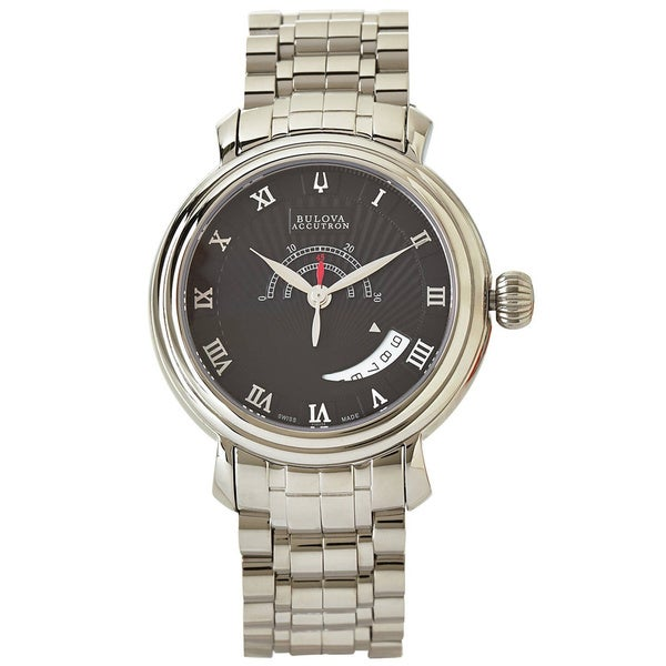 Bulova Accutron Men's 'Amerigo' Stainless Steel Swiss Automatic Watch