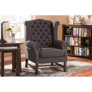 Sussex Gray Linen Club Chair