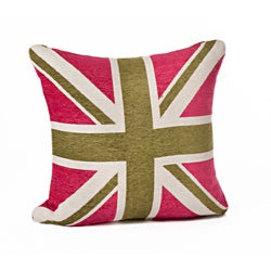 Union Jack 18-inch Throw Pillow
