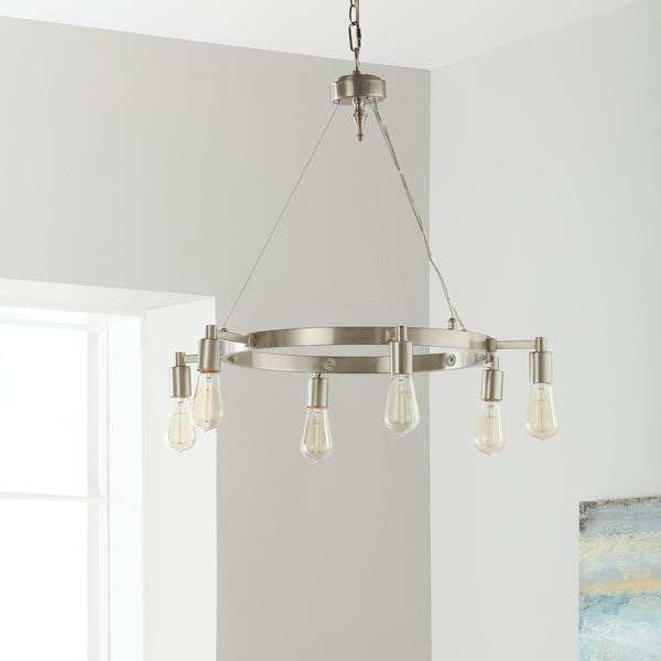 Strick & Bolton Rae 6-light Brushed Nickel Chandelier