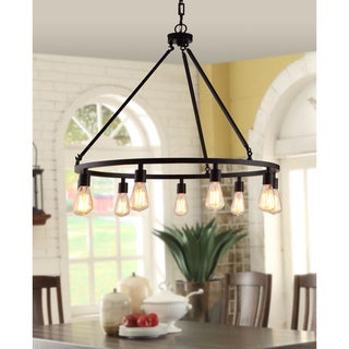 Shea Bronze Edison Bulb 9-light Chandelier