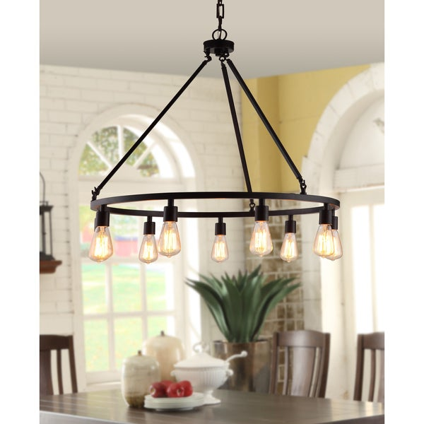 Shea Bronze Edison Bulb 9-light Chandelier - Free Shipping Today - Overstock.com - 14430970
