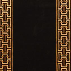 Indo Hand-knotted Tibetan Black/ Ivory Wool Rug (3'6 x 5'7) - Thumbnail 1