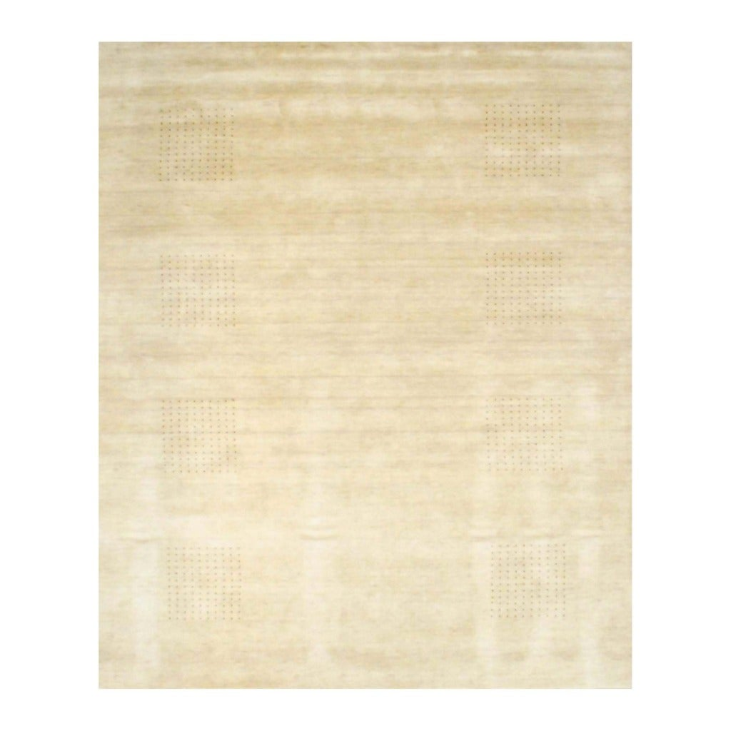 Indo Hand-knotted Tibetan Beige/ Brown Wool Rug (8' x 10')