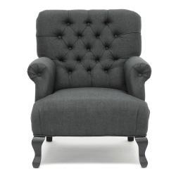 Joussard Gray Linen Club Chair