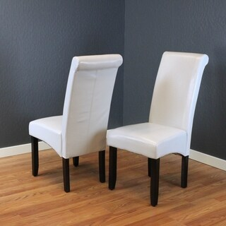 Milan Faux Leather Cloud Grey Dining Chairs (Set of 2)