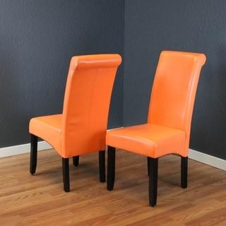 Milan Sunrise Orange Dining Chairs (Set of 2)