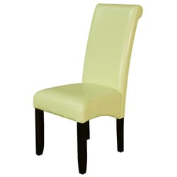 Monsoon Wax Green Faux Leather Dining Chairs (Set of 2)