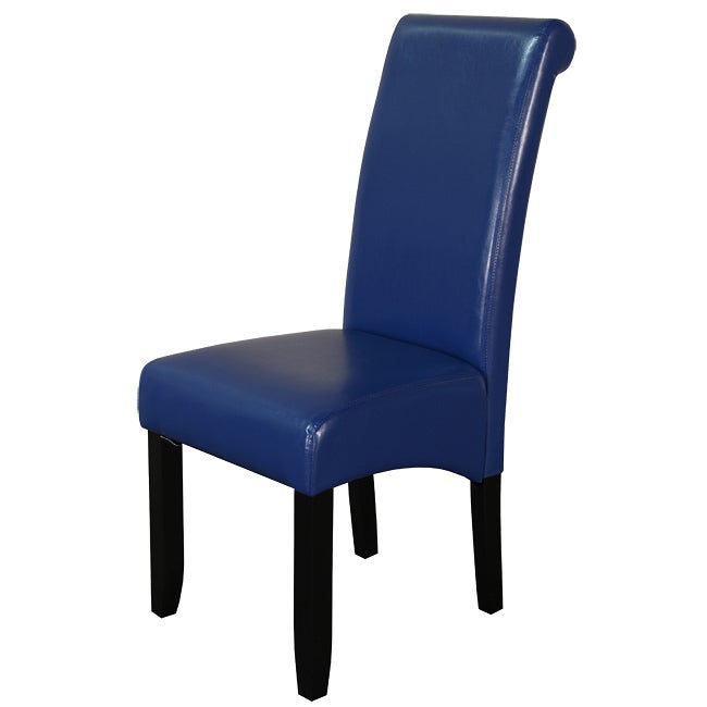 Monsoon Blue Faux Leather Dining Chairs (Set of 2)