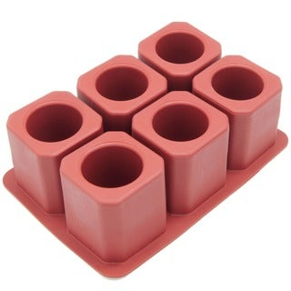 Freshware 6-Cavity Square Ice Silicone Mold Shot Glass