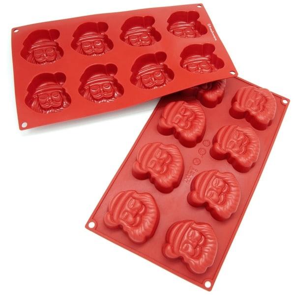 Freshware 8-Cavity Santa Claus Silicone Mold/ Baking Pan (Pack of 2)