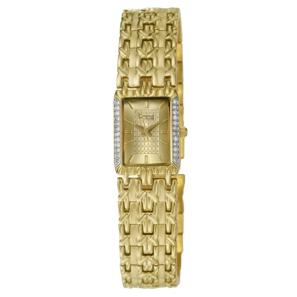 Caravelle Women's Gold-plated Bracelet Watch