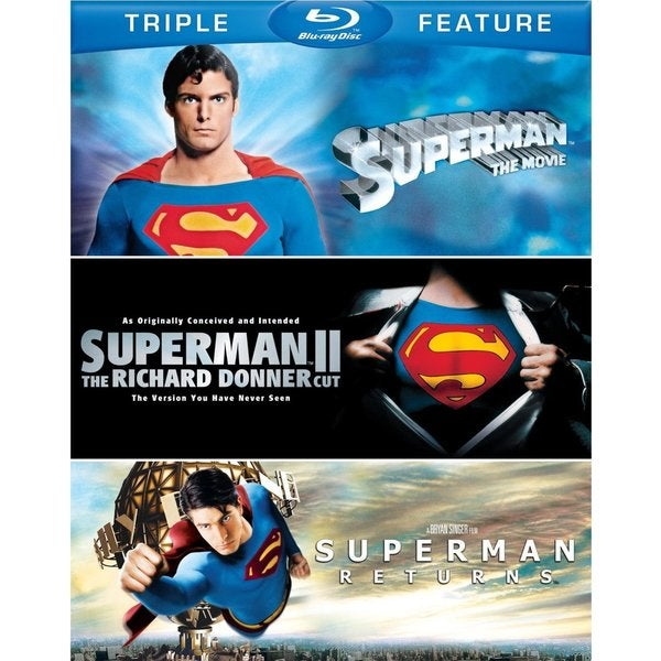 Superman: The Movie/Superman II: The Richard Donner Cut/Superman Returns (Blu-ray Disc)