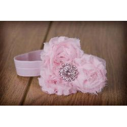 My Princess Tutus Hand-crafted Pink Rolled Flower Elastic Headband - Thumbnail 1