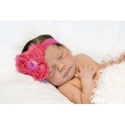 My Princess Tutus Hot Pink Rolled Flower Headband