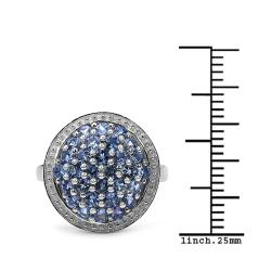 Malaika Sterling Silver 1ct TGW Tanzanite Ring - Thumbnail 2
