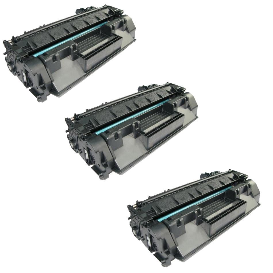 HP CE505A Compatible Black Toner Cartridges (Set of 3)