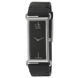 Calvin Klein Women's 'Citified' Black Stainless-Steel Watch