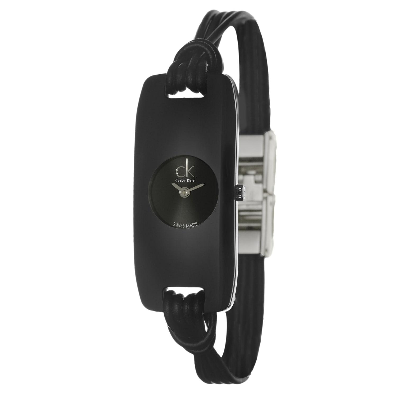 Calvin Klein Women's 'Connect' Black Glass Watch, Size On...