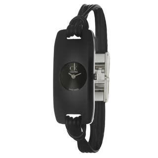 Calvin Klein Women's 'Connect' Black Glass Watch|https://ak1.ostkcdn.com/images/products/6958894/P14473867.jpg?impolicy=medium