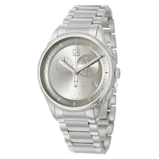 Calvin Klein Men's 'Basic' Stainless-Steel-and-Leather Watch|https://ak1.ostkcdn.com/images/products/6958906/6958906/Calvin-Klein-Mens-Basic-Stainless-Steel-Watch-P14473878.jpg?impolicy=medium