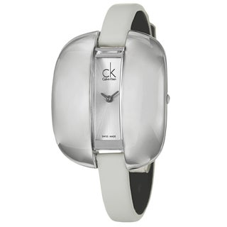 Calvin Klein Women's 'Treasure' Stainless-Steel Watch with Leather Strap