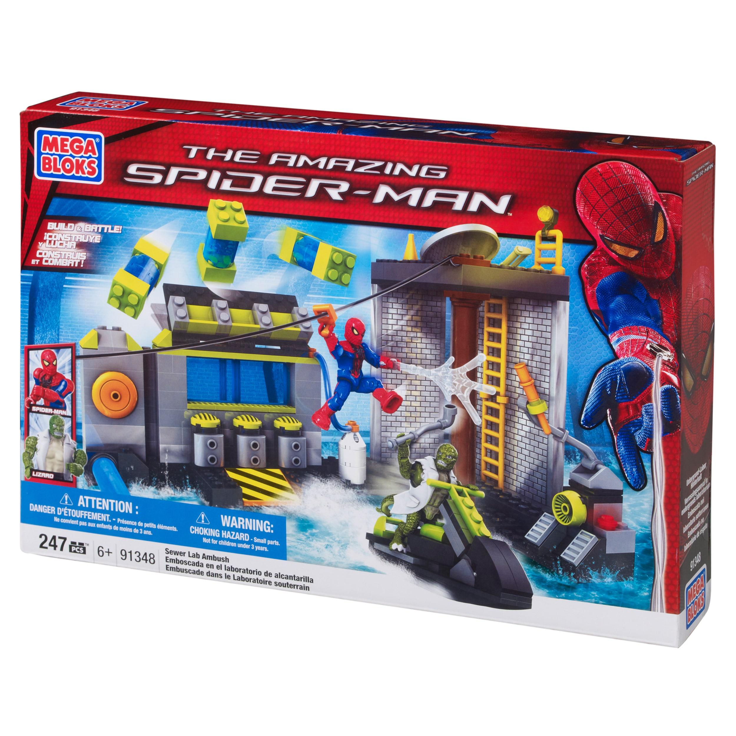 Shop Mega Bloks Amazing Spider Man Sewer Lab Headquarters