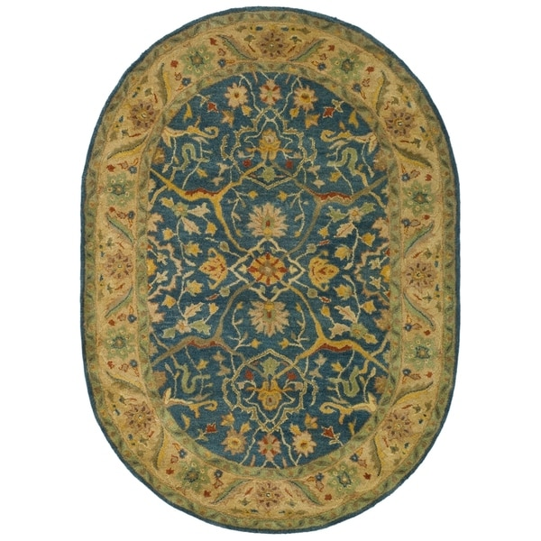 Shop Safavieh Handmade Antiquities Mahal Blue/ Beige Wool