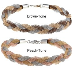 La Preciosa Sterling Silver Braided Mesh Bracelet