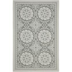 Safavieh Poolside Light Grey/ Anthracite Indoor Outdoor Rug (5'3 x 7'7)