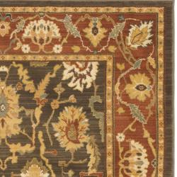 Safavieh Oushak Brown/ Rust Powerloomed Rug (8' x 11') - Thumbnail 1