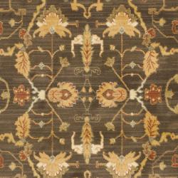 Safavieh Oushak Brown/ Rust Powerloomed Rug (8' x 11') - Thumbnail 2