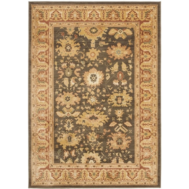 Safavieh Oushak Brown/ Rust Powerloomed Rug (9'6 x 13') - Thumbnail 0