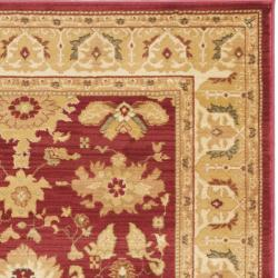 Safavieh Oushak Red/ Cream Powerloomed Rug (9'6 x 13') - Thumbnail 1