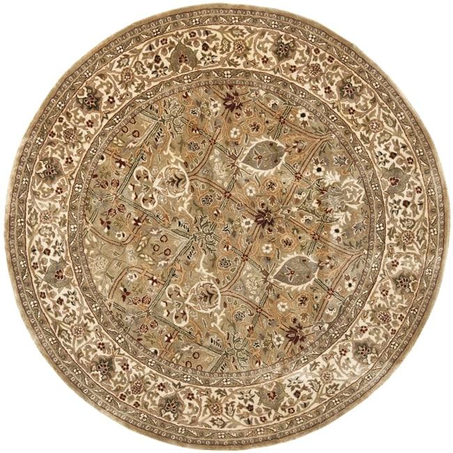 Safavieh Handmade Persian Legend Light Green/ Beige Wool Rug (3'6 Round)