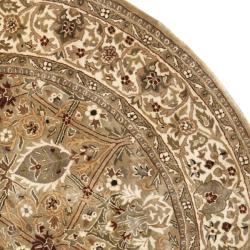 Safavieh Handmade Persian Legend Light Green/ Beige Wool Rug (3'6 Round) - Thumbnail 1