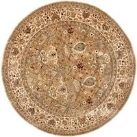 Safavieh Handmade Persian Legend Light Green/ Beige Wool Rug - 8' x 8' Round