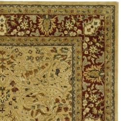 Safavieh Handmade Persian Legend Ivory/ Rust Wool Rug (9'6 x 13'6) - Thumbnail 1