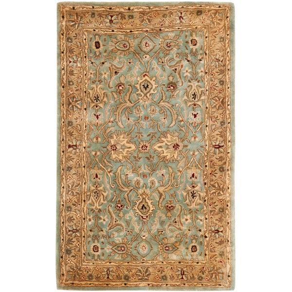 "Safavieh Handmade Persian Legend Blue/ Gold Wool Rug - 9'6"" x 13'6"""