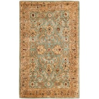 Safavieh Handmade Persian Legend Blue/ Gold Wool Rug (9'6 x 13'6)