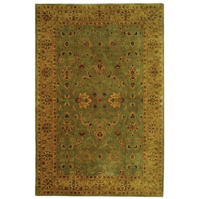 Safavieh Oriental Handmade Persian Legend Blue/ Gold Wool Rug - 7'6 x 9'6